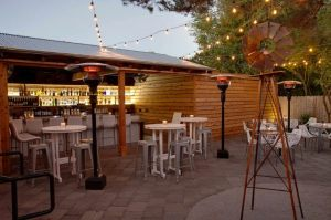 !Caliente! The outdoor bar at Bravas is alluring no matter the time of year, but spring is super.